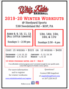 2019-2020 Winter Workouts