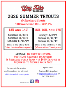 2020 Summer Tryouts